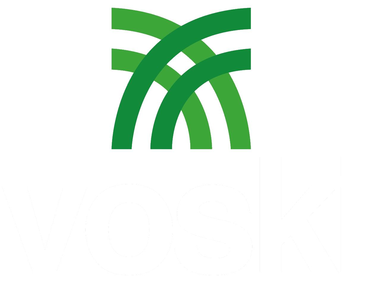 Logo Voski letras blancas